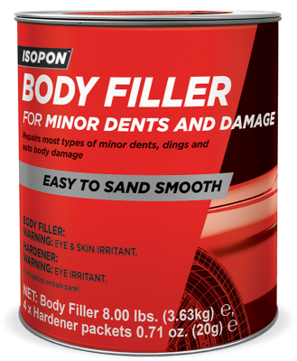 Body Filler for Minor Dents and Damage Gallon Tin