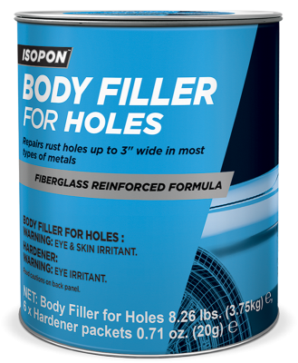Body Filler for Holes Gallon Tin